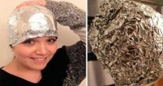 This girl covered her hair with aluminum foil after washing. This girl covered her hair with aluminum foil after washing. Hair And Beauty, Health And Beauty, Healthy Beauty, Healthy Food, Stay Healthy, Healthy Life, Healthy Living, Cheveux Ternes, Best Hairdresser