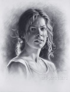 Drawing a portrait of Evangeline Lilly by Drawing-Portraits on DeviantArt