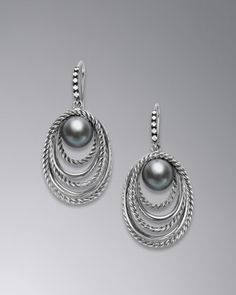 Pearl Crossover Earrings by David Yurman at Neiman Marcus.