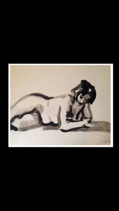 "Elmer Bischoff - "" Nude Female "", 1959 - Watercolour - 12 x 17 in."