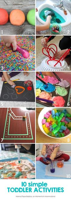 10 Simple Toddler Activities | Mama.Papa.Bubba. {for Moments in Mommyland}