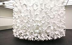 God's Comic (sculpture made from polystyrene blocks) —John Powers