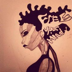 """Free your mind"" - Drawing by artist Tima S. Bashir"