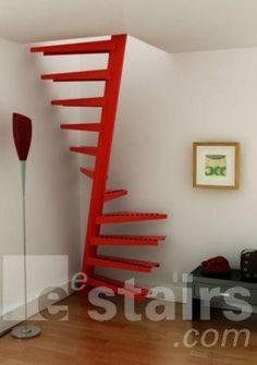In plaats van een vlizotrap, de 1m2 trap :-)