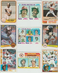 70 + Different EDDIE MURRAY cards lot Orioles Dodgers Mets HOF glossy Sportflics #BaltimoreOrioles