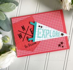 Explore Card by Dawn McVey for Papertrey Ink (July 2018)