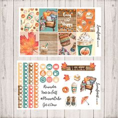 November Planner sticker kit fall stickers autumn stickers