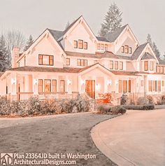Luxury House Plans, Luxury Homes Dream Houses, Dream House Plans, Dream House Interior, Dream Home Design, My Dream Home, Home Building Design, Cute House, Sims House