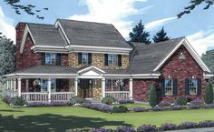Farmhouse House Plan with 2764 Square Feet and 4 Bedrooms from Dream Home Source | House Plan Code DHSW55139