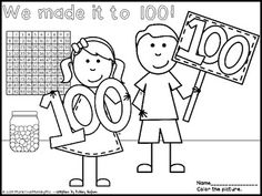 this freebie includes a day celebration coloring sheet that includes the saying we made it to thanks to ashley hughes for creating such cute