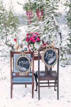 creative true love mirror frame wedding chair decor ideas for bride and groom