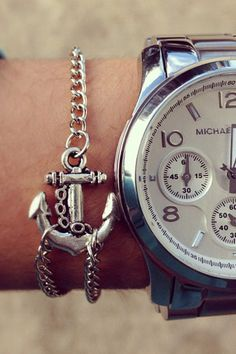 Silver Anchor Bracelet  $8.00