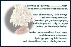 1000 Ideas About Christian Wedding Vows On Pinterest