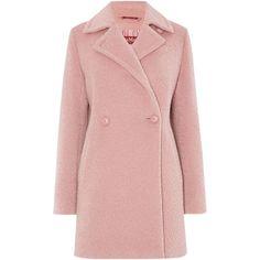 Max Mara Giralda alpaca double breasted coat (2.040 RON) ❤ liked on Polyvore featuring outerwear, coats, jackets, coats & jackets, casaco, pink, women, alpaca coat, duster coat and pink double breasted coat