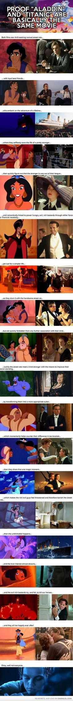 Proof That Aladdin And Titanic Are Basically The Same Movie - LOL