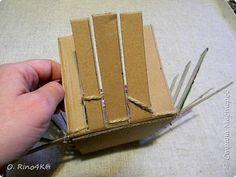 Корзиночка из бечевки и картона