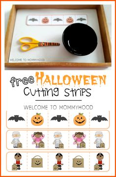 Free Halloween Cutting Strips from Welcome to Mommyhood