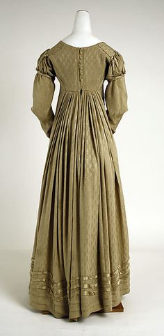 Visiting ensemble (back view) - American - c 1818