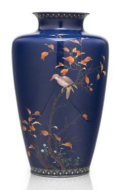 A cloisonné enamel vase Christie's Japanese Art: Meiji Period .