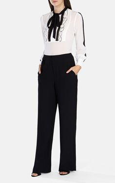 SOFTLY TAILORED WIDE LEG TROUSER
