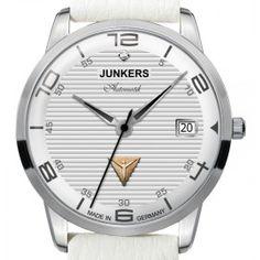 Reloj Junkers 6365-5 Automático Swarovski Corrugated blanco Lady « Relojesactuales