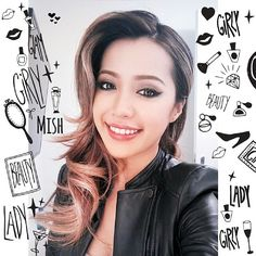 Beautiful Michelle Phan  Love her leather/biker jacket and smokey/rock/edgy makeup!
