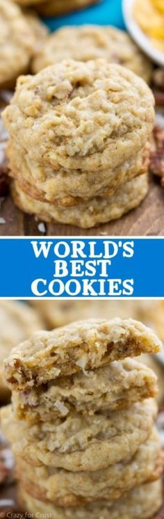 World's Best Cookies - an easy cookie recipe filled with nuts, coconut, and cornflakes!