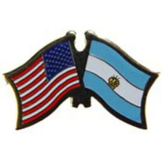 "American & Argentina Flags Pin 1"" by FindingKing. $8.50. This is a new American & Argentina Flags Pin 1"""
