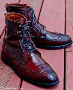 Allen Edmonds Dalton Cordovon Boots in Burgundy Genuine Shell Cordovan