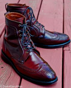 Allen Edmonds Dalton Cordovon Boots in Burgundy Genuine Shell Cordovan