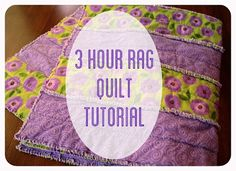 """3 Hour Rag Strip Quilt Tutorial  Supplies: -A piece of batting that is 40.5"""" x 42"""" -1.5 yards flannel     -1.5 yards coordinating flannel NOTE  I have been warned that it leaves a lot of thread in the washing machine and has been known to clog washing machines and flood laundry rooms"""