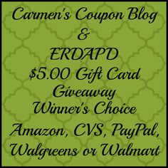 Blog giveaways for coupon site