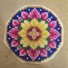 Perler flower. Adapted from cross stitch pattern ~ | Flickr