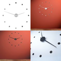 Wall Clock Stainless Steel & Black