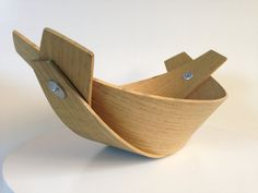 Vintage Modern Small Bent Wood Fruitbowl on Etsy, $35.00