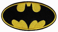 "Amazon.com: [Single Count] Custom and Unique (4 x 2"" Inches) DC Comics Super Hero Batman Insignia Logo Iron On Embroidered Applique Patch {Yellow, and Black Colors}"