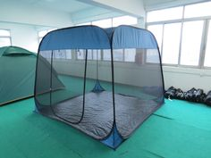 A pop up style mesh tent which can protect from any insect and bring more fresh air in. Nice tent to sleep in in summer.