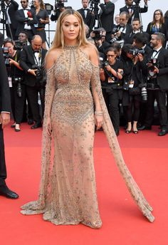 Rita Ora in ELIE SAAB Haute Couture Spring Summer 2017 at the 70th Anniversary of the 70th annual Cannes Film Festival.