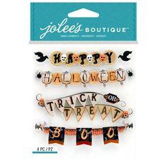 Jolees Boutique Jolee's Boutique Stickers, Vintage Halloween Banner Repeats