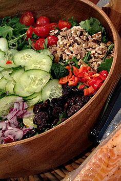 Baby Kale Salad and Fresh Lemon Dressing