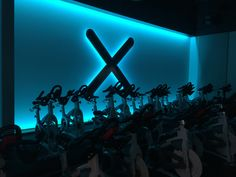 XCYCLE, Las Vegas Indoor Cycling Studio, spinning studio, spin, custom designed bikes, custom designed logo, custom designed flywheel, custom designed flywheel racks, Schwinn custom painted bikes, Custom Indoor Cycles, Andrew Sandoval, custom designed indoor cycling studio