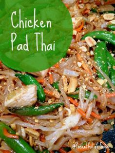 Easy Chicken Pad Thai Recipe - Pocketful Of Sugar.   Also Has Recipe For Homemade Avocado Egg Rolls. :d