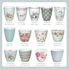 Greengate lattcups Spring/Summer 2013