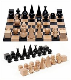 Man Ray Chess Set Re-edition of the 1920 set in solid beech wood