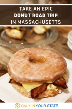 The Massachusetts Donut Trail is the most delicious road trip in the whole state. Enjoy the sweetest day of fun as you travel to the best bakeries and cafes, sampling classic flavors like Boston Cream and Chocolate Glaze along with unique desserts like donut ice cream sandwiches vegan grapefruit donuts. Square Donuts, Donut Ice Cream, Vanilla Bean Cakes, Peanut Butter Truffles, Good Bakery, Vegan Caramel, Boston Cream, Unique Desserts, Delicious Donuts
