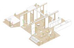 Gallery of Costa Brava House / Roman Izquierdo Bouldstridge - 18 Architecture Drawings, Architecture Plan, Contemporary Architecture, Costa, Floor Layout, Patio Layout, Patio Interior, Ideal Tools, Basement Bedrooms