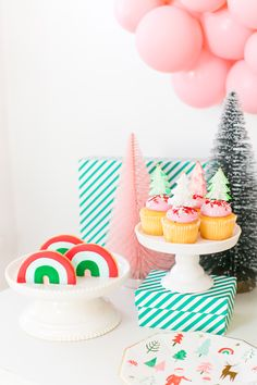 Project Nursery - Christmas Rainbow Sweets Table