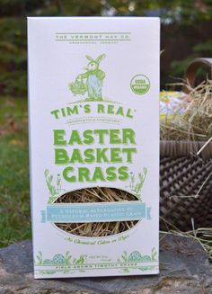 This Easter, consider using REAL grass in baskets and gifts instead of that insidious plastic shred junk! Tim's Real Easter Basket Grass