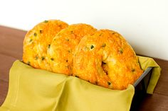 Jalapeno Cheddar Bagels from Brown Eyed Baker - I've always wanted to make bagels at home!