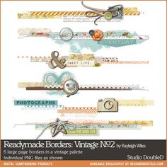 Readymade Borders: Vintage No. 02 - Digital Scrapbooking Elements